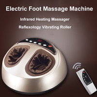 Electric Foot Massage Machine Infrared Heating Feet Massager With Shiatsu Reflexology Vibrating Roller Health Massage Relaxation