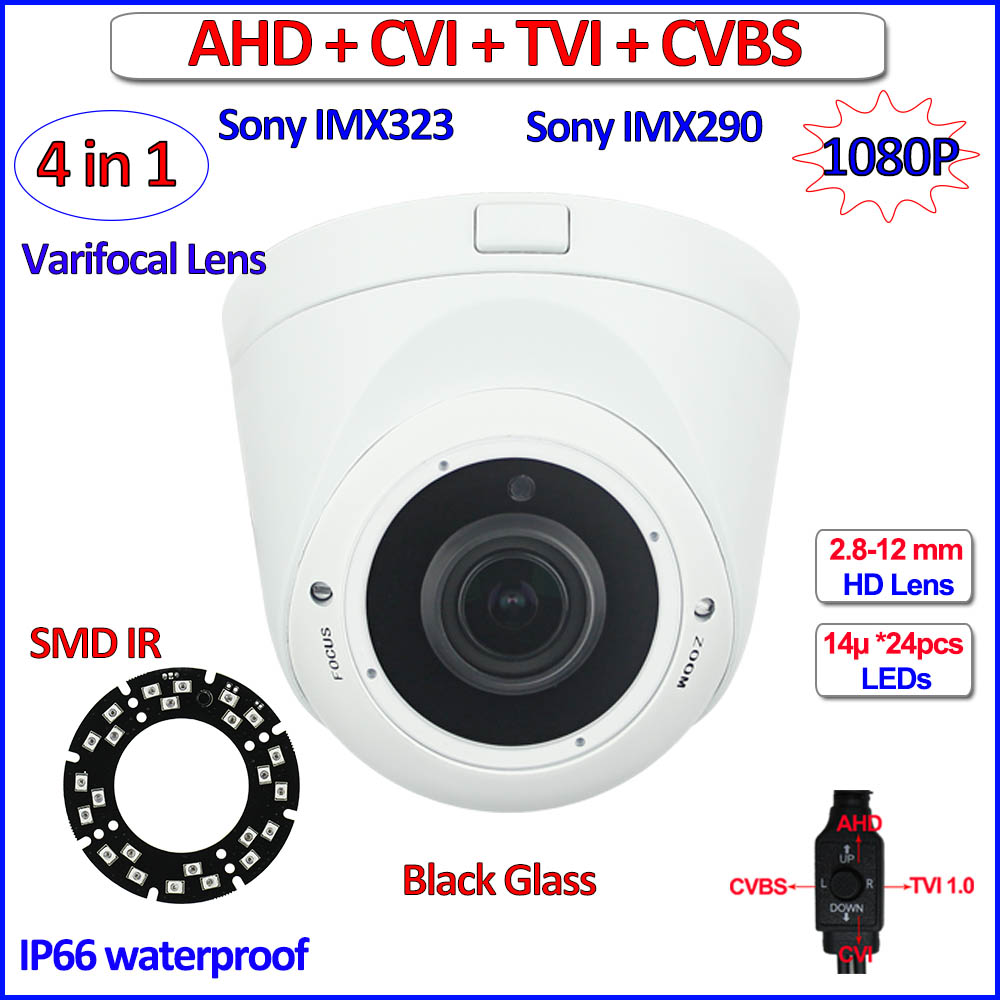 ФОТО Starvis imx290 2MP cctv camera 4 in 1 imx323 ahd camera 1080P AHD-H HDCVI HDTVI Color Night mode Security, 960H, Verifocal Lens