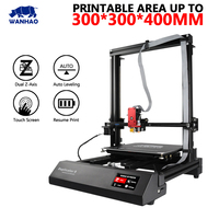Wanhao Duplicator D9/300 3D Printer Printable Area Up To 300*300*400mm  With Dual Z axis Auto Leveling Touch Screen Resume Print|3D Printers|Computer & Office -