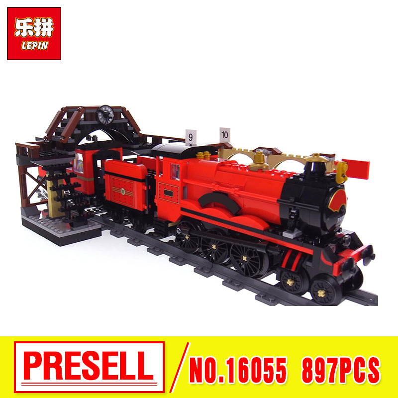 2018 Lepin 16055 Harry Magic Potter Hogwarts Express Train Blocks Bricks Compatible With The 75955 Building Model Gift Assembled