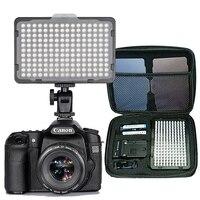 176 יחידות אור LED למצלמה למצלמות DSLR אור רציף, סוללה ומטען USB, נרתיק צילום תמונת וידאו סטודיו