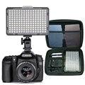 176 pcs DIODO EMISSOR de Luz para DSLR Camera Camcorder Luz Contínua, bateria e Carregador, Carry Case Fotografia De Estúdio de Vídeo Foto