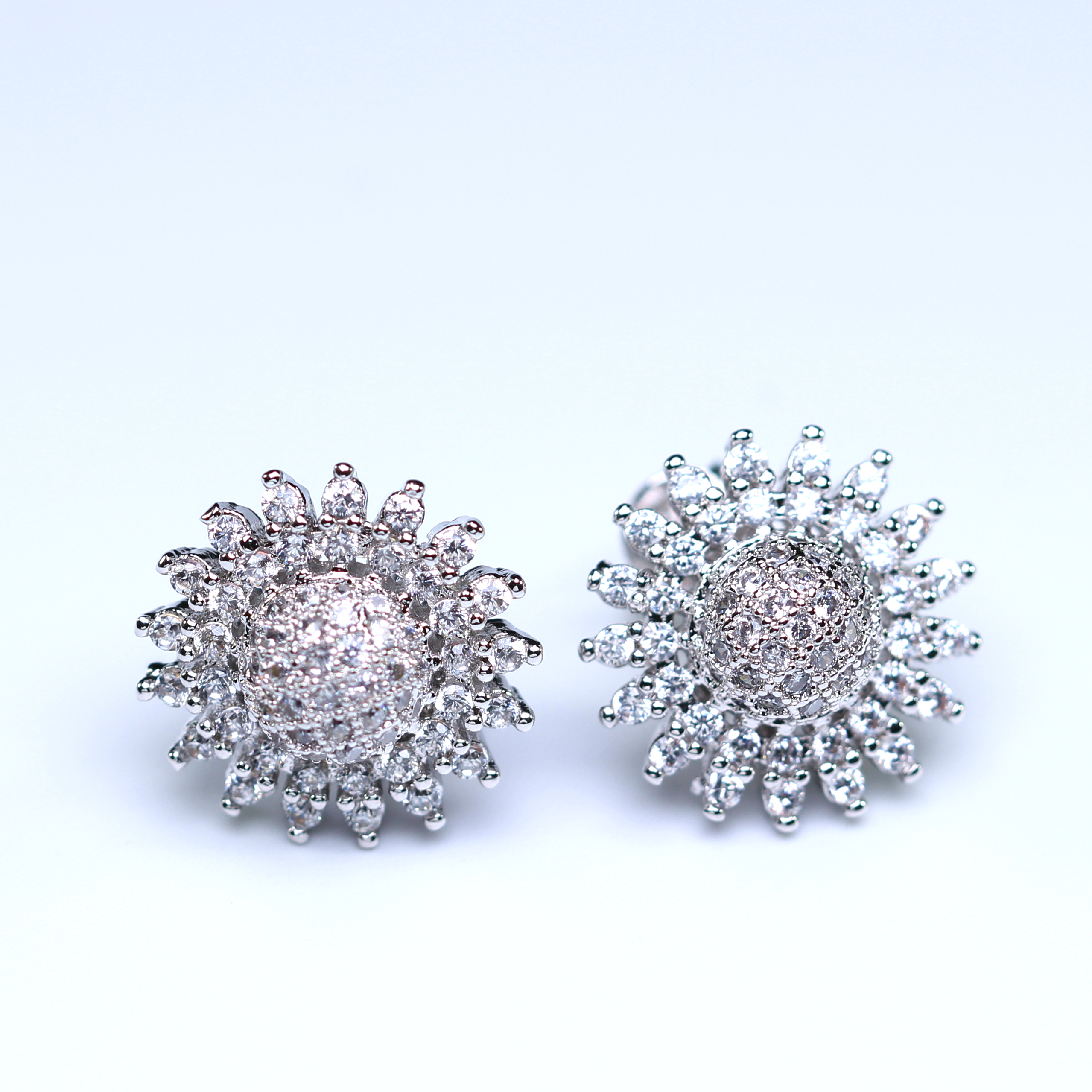 vintage big high round earrings quality flower double tinysand fair stud silver cheap l diamond