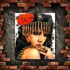 Бесплатная доставка ручная роспись маслом на холсте курить красные губы девушка стены искусства картина для гостиной домашний декор