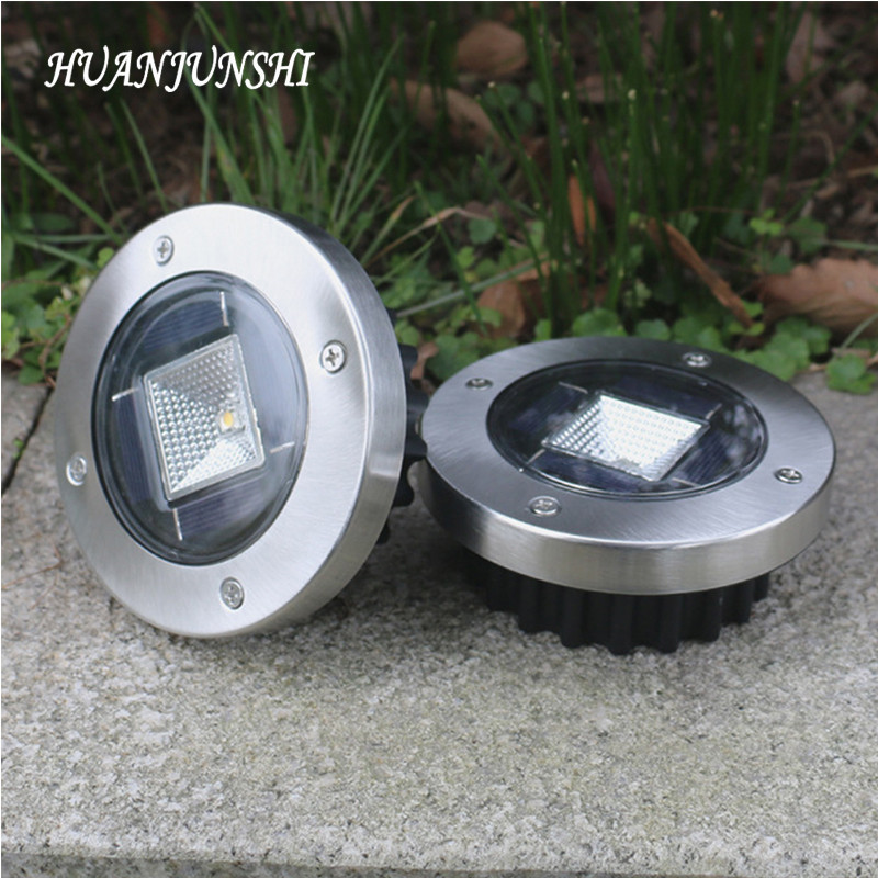 Stainless Steel Solar Lawn Light Waterproof LED Solar Lawn Lamp Outdoor Garden Yard Lamp Wedding Party Christmas Lawn Lamps mi light 2 4g 1pcs lot 12w led downlight remote rf control wireless bulb lamp white warm white down light 85 265v