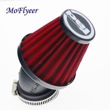 Воздушный фильтр MoFlyeer для мотоцикла, 28 мм, 38 мм, 42 мм, 48 мм, зажим для очистки, 45 градусов, изгиб, воздухозаборные фильтры, аксессуары для мотоц...