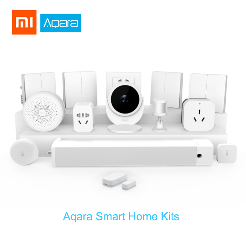 Xiaomi Aqara Sensor de puerta Sensor de movimiento Aqara Gateway centro de la pared interruptor inalámbrico Sensor de agua de temperatura y humedad Sensor de Casa Kits