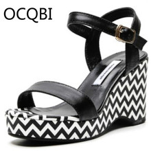 Womens Wedge Sandals Summer Parties Shoes Elevated Open Toe Party Size 33 - 41 White Black Blue Pink