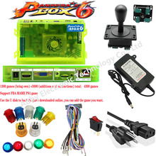 цена на Game box 6 1300 Games Set DIY Arcade Kit Push Buuttons Joysticks Arcade Machine 2 Joysticks DIY Kit Bundle Home