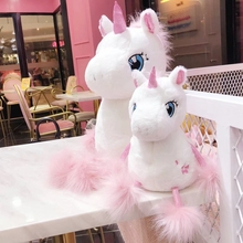 35/60 Cm Soft Cartoon Unicorn Plush Toys Sakura Fluffy Foot Toy For Baby Girl Adorable Gift Children Birthday