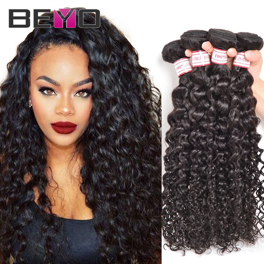 7A Brazilian Curly Virgin Hair 3Bundles Water Wave Brazilian Virgin Hair Mink Brazilian Hair Weave Bundles Human Hair Extensions