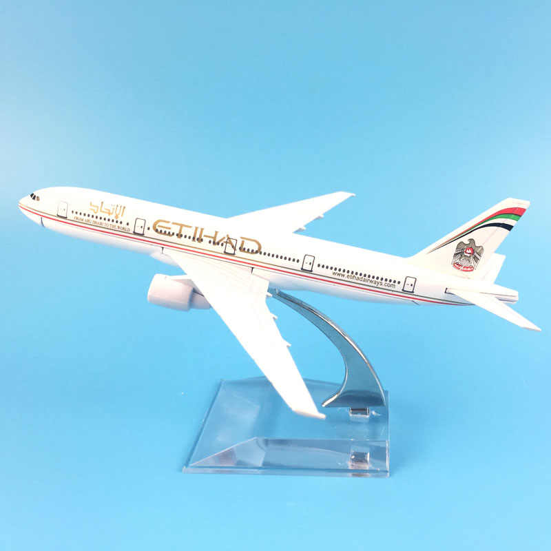 AIRLINER 16CM  ETIHAD BOEING 747 METAL ALLOY MODEL PLANE AIRCRAFT MODEL TOYS AIRPLANE BIRTHDAY GIFTS