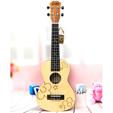 21 inch Soprano Uke 4 Strings Uku spruce flowers guita ukulele acoustic small guitar ukelele professional uke Concert стоимость