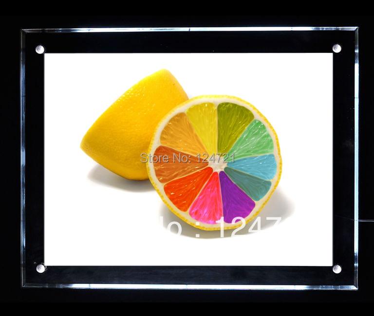 LED Advertisment Acrylic Lighting Photo Frame,Super Slim Light Box Led