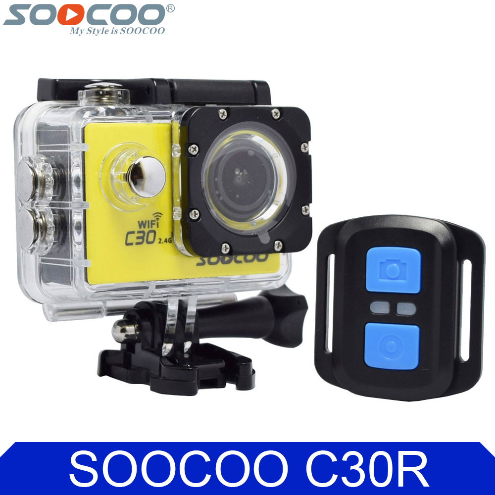 SOOCOO C30R 4K Wifi Action Camera 1080P Full HD Gyro Wireless Remote Control Waterproof Bicycle Helmet Mini Outdoor Sport DV Cam attention mini waterproof action camera dv 126 170d viewing angle full hd 1080p wifi remote control fantastic sport camera