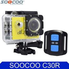 Soocoo на c30r 4 К Wi-Fi действие Камера 1080 P Full HD гироскопа Беспроводной Дистанционное управление Водонепроницаемый Велосипедные шлемы Мини Открытый Спорт DV cam