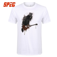 Slash T Shirt for Men Guitar Rock Ink Style Gun Music Roses Man 100% Cotton Short Sleeve T-Shirt Best Selling Tops Funny Tees