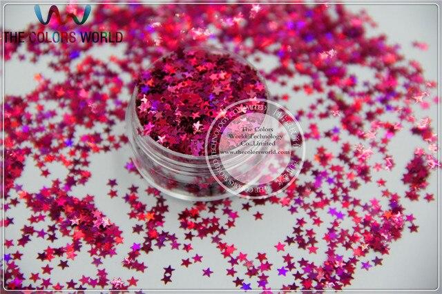 Paillettes holographiques, étoiles, LM-92 tailles, 3mm, fournitures pour Nail Art, bricolage, 1 paquet = 50g