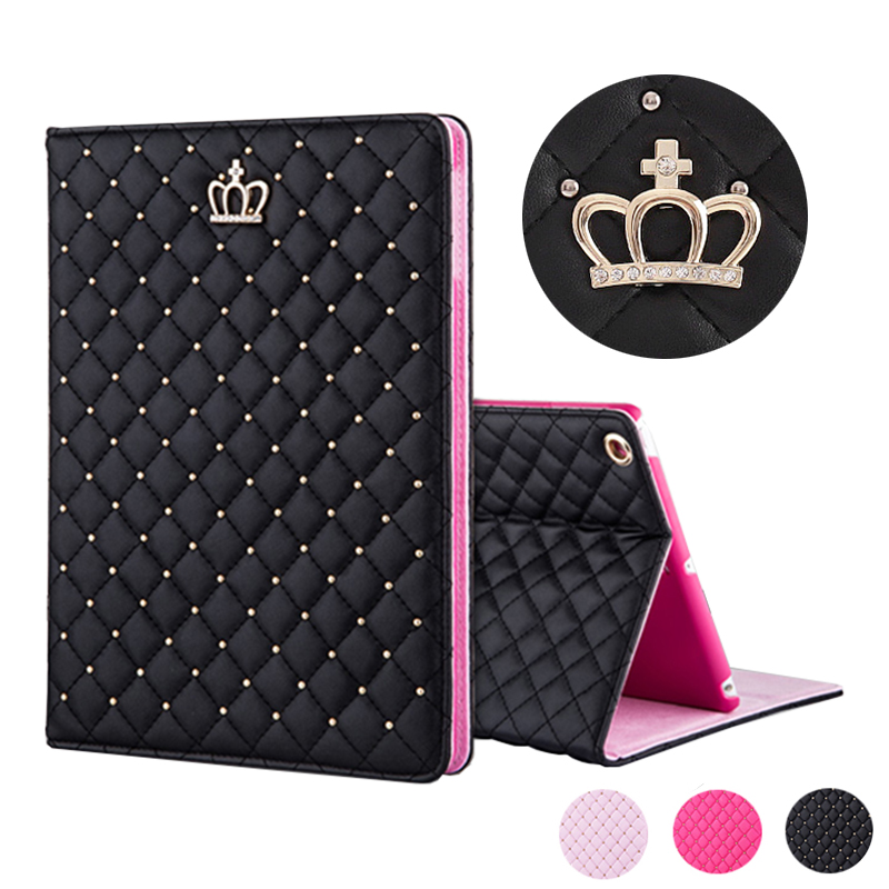 Crown Cover Case for iPad Mini 1 2 3 Capa Para Fashion PU Leather Protective Case for iPad Air 1/Air 2 for iPad 2 3 4 9.7 inch