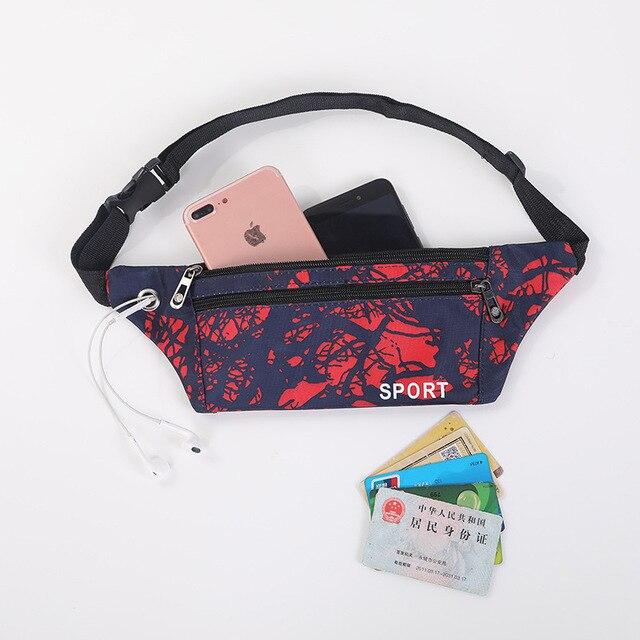 BISI GORO Large-capacity outdoor cycling sports waistband Belt For Women Men Money purse Motion Fannypack Hip Bum Waist Bag