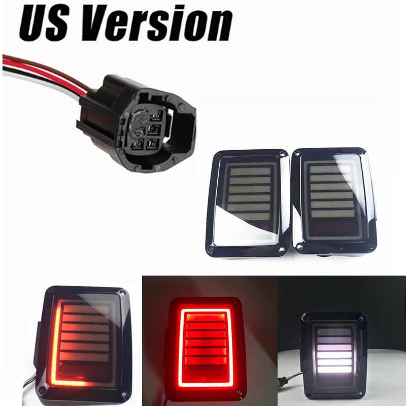 07 16 for Jeep Wrangler JK US EU version LED Tail Lights Brake Turn Signal Reverse