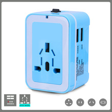 Travel adapter Universal Power Supply International Conversion Plug Multi-function Charging Socket Double UBS