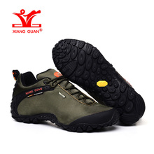 XIANGGUAN Man Hiking Shoes Men Athletic Trekking Boots Army Green Zapatillas Sports Climbing Hike Shoe Outdoor Walking Sneakers