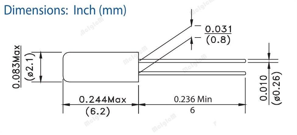 1000pcs 2*6 16MHz Error 20ppm 20pF Cylinder quartz resonator