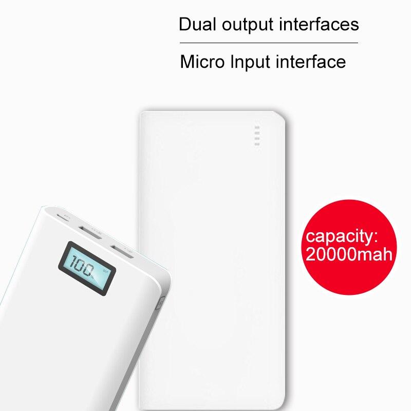 bilder für 2A 20000 mAh LCD Display Tragbare Power 20000 mah 18650 Ladegerät Externe Batterie Für iphone xiaomi Handys Tablet