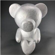 50 см и 60 см медведь искусственный цветок «Роза» пластиковые цветы на День святого Валентина поддельные цветы