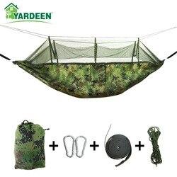 1-2 человека 260*140 см гамак для кемпинга с сеткой от комаров сетка для насекомых портативный нейлоновый гамак из парашютной ткани для сна путе...