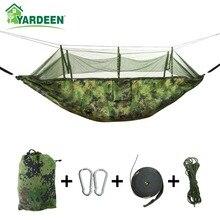 1-2 Person 260*140cm Camping Hammock Outdoor Mosquito Bug Net Portable Parachute Nylon Hammock for Sleeping Travel Hiking