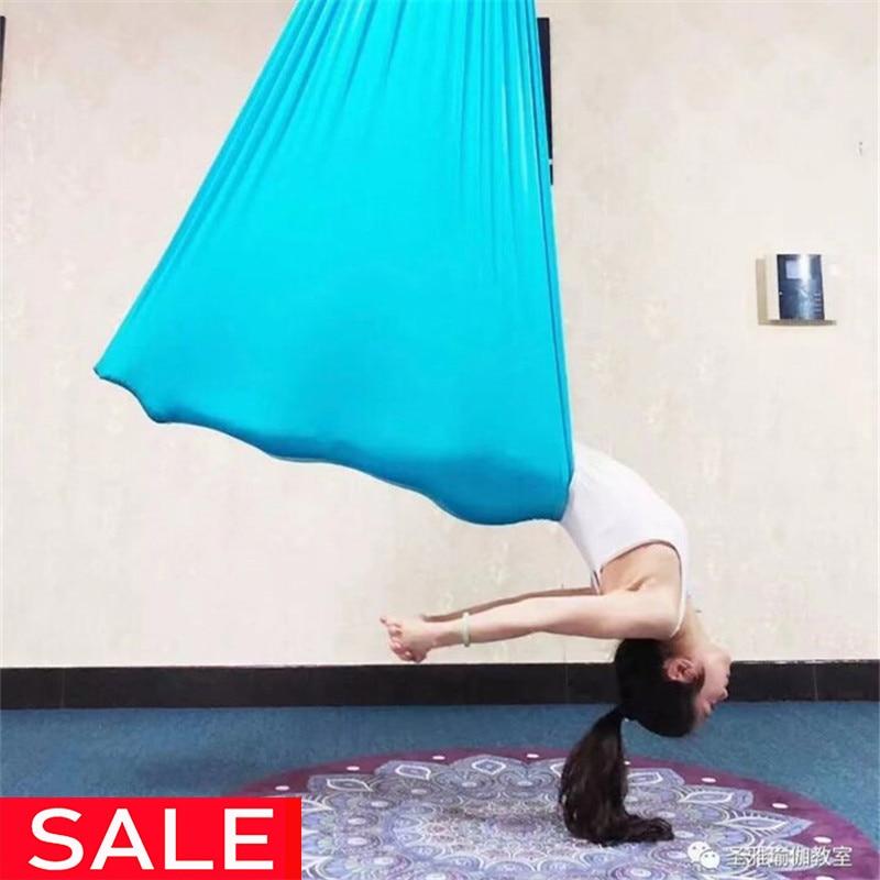 5Meter Aerial Yoga Hammock Elasticity Swing Multifunction Anti gravity yoga training BeltsYoga Belts   -