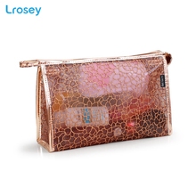 Shining Lace Makeup Organizers New transparent waterproof wash bag ladies PVC Cosmetic storage bags handbag travel cosmetic