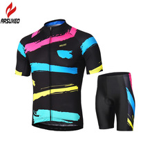 ARSUXEO 2018 Summer Men Women's Cycling Clothing Set Breathable Short Sleeve Cycling Jersey Sets Riding Bike Bicycle MTB Suit cycling clothing limited men sleeve bicicletas riding suit long 2017 new summer sleeved male bicycle for jersey