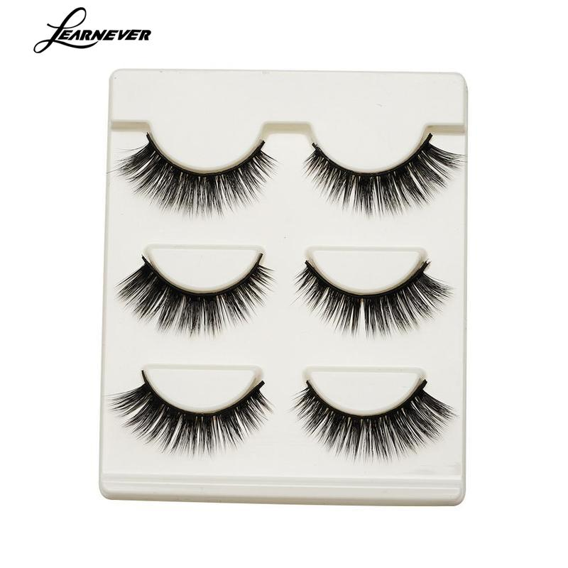 Makeup Beauty Hair Natural Long Fake Eyelashes 3D Cross Thick False Eyelashes Extensions Black Eye Lashes Extension
