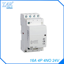 4P 4NO 24V 16A Modular Normally Closed Contactor with electric machincal types of contactor  Din rail Household ac contactor стоимость