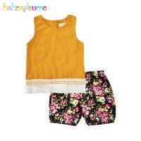 Summer Fashion Kids Clothes Girls set Sleeveless Tassel Coat Child Vest Short Pant Tracksuit Girls Clothing infant Princess A213