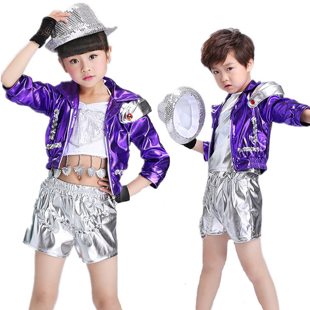 086bef81d Free Shipping Modern Design Kids Hip Hop Dance Costumes for Competition  Stage Ballroom Children Boys Girls