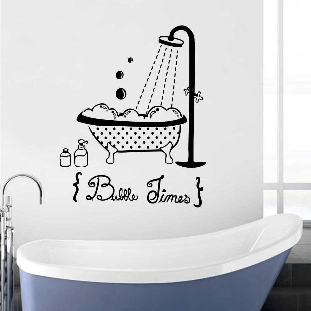 Bathing Wall Decal Bubbles Time Wall Sticker Bathroom Decoration Kids Baby Shower Design Wall Mural Bath Window Poster Ay1512 Wall Stickers Aliexpress