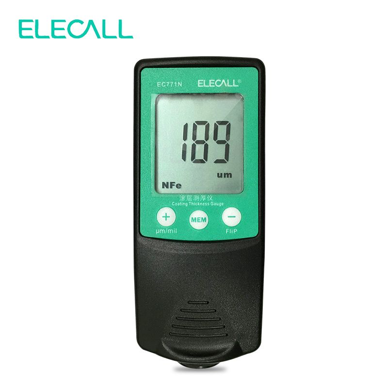 ELECALL EC771N Digital Thickness Gauge Coating Meter Width Measuring Instrument Paint Electroplated Coating Thickness Measure optometric economic digital pupillometer cx8 stable quality ce marked accurate measuring pd meter