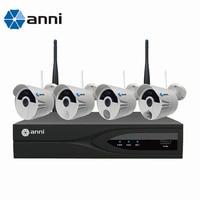Anni интеллектуальная беспроводная (Wi Fi) 4 сетевой видеорегистратор, интегрированный датчики и датчики для опасные газы, ПИР, сирена оповещени