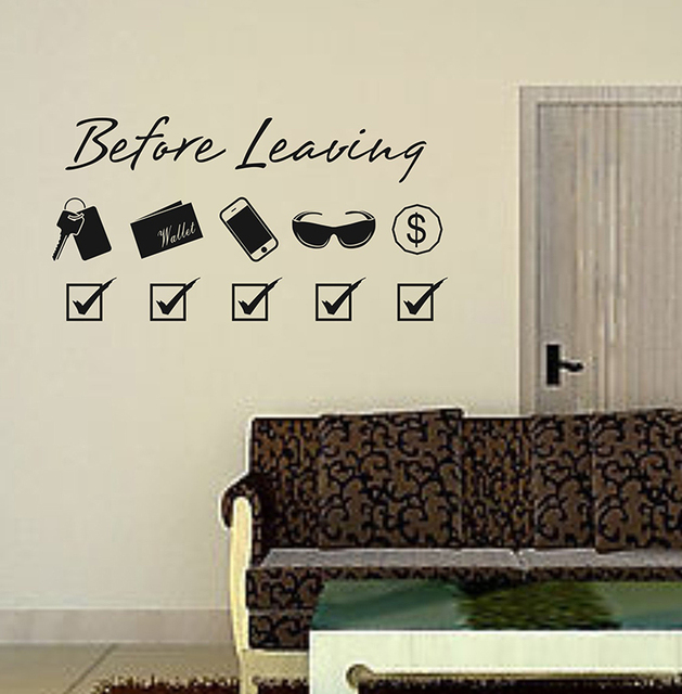 Before Leaving Remind Vinyl Quotes Wall Decals Home Decor Living Room Art  Mural Wallpaper Removable Wall Part 54