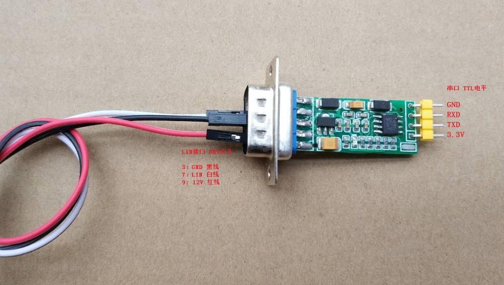 For LIN Bus Analyser LINUART LIN Serial TTL DB9 Standard Interface LIN Data Analyser