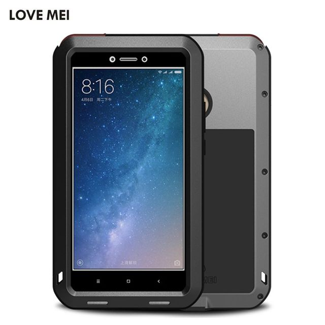 newest e2c13 14adf Aliexpress.com : Buy Love Mei Life Waterproof Metal Aluminum Armor Hard  Case For Xiaomi Mi Max 2 Cover Shockproof Protective Shell Skin Coque  Fundas ...