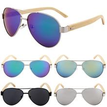 Vintage Pilot Wood Sunglasses Men Women UV400 Gradient Sun Glasses Driver Sport Eyewear Original Bamboo Sunglass Male
