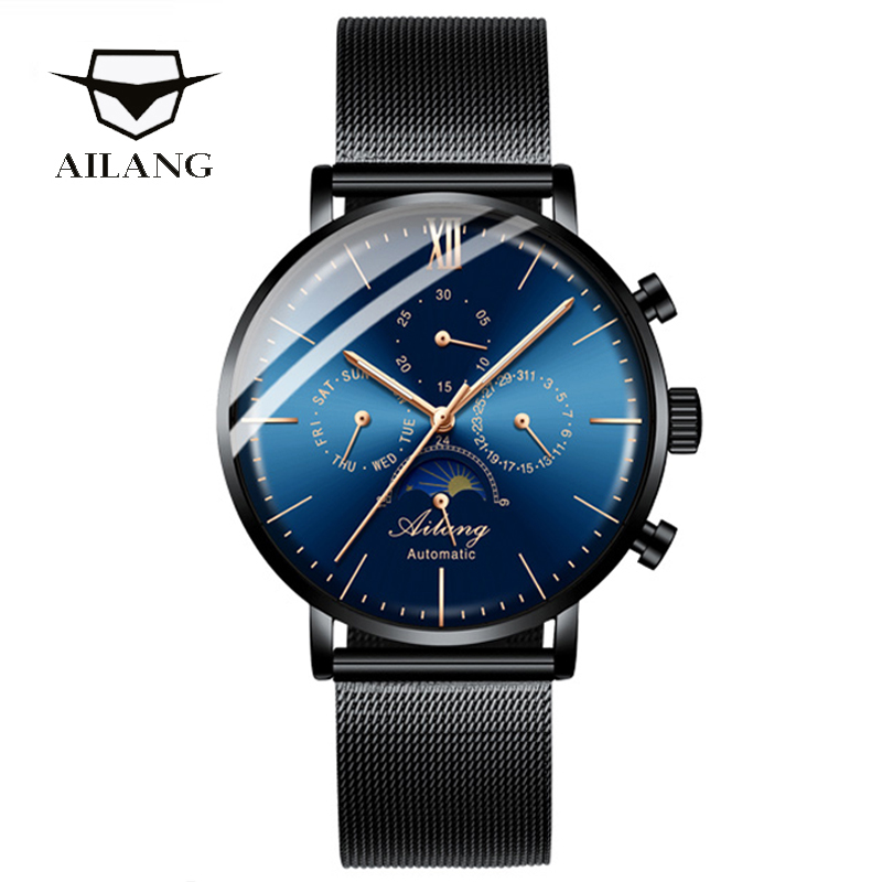 AILANG Original top luxury brand men 39 s automatic mechanical waterproof watch diving clock fashion diesel watch Switzerland 2019 in Mechanical Watches from Watches
