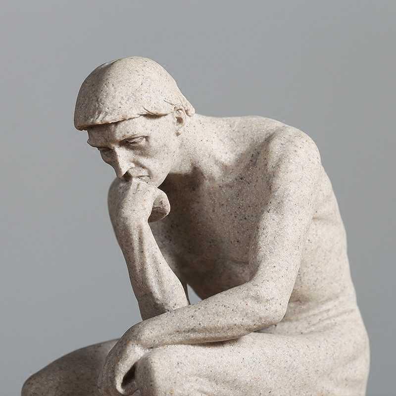 Il Pensatore Statua Fine Art Scultura Nudo Maschile Figura