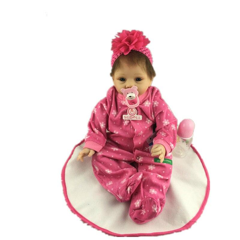 55cm/22'' Reborn Toddler Dolls Handmade Lifelike Baby Solid Silicone Vinyl Boy Doll Toy Gift Collection 55cm 22 handmade lifelike baby silicone vinyl realistic reborn toddler dolls girl play toy collection