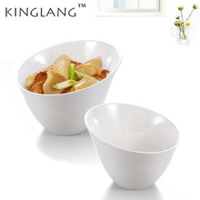 1pc Imitation Porcelain White Color Melamine Vegetable Bowl  Buffet Restaurant Tableware Wholesale